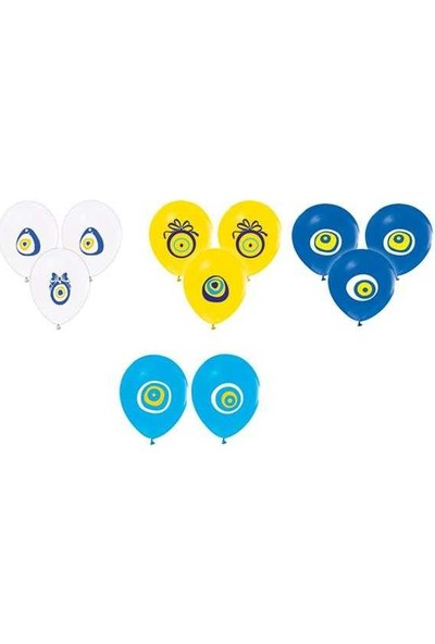 Kidspartim Nazar Boncuğu Karişik Renkli Balon