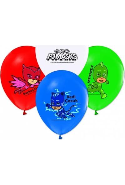Kidspartim Pijamaskeliler Baskili Renkli Balon
