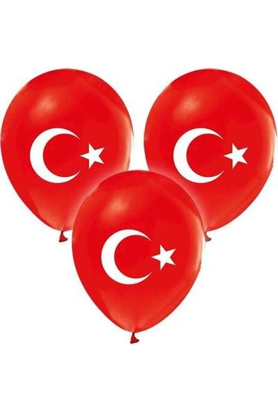 Kidspartim Ay Yildiz Baskili Balon