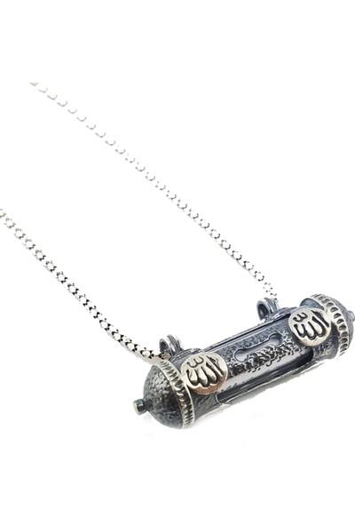 Pigado Allah Yazılı Ayet-El Kürsi Dualı Cevşen Kolye 925 Ayar Gümüş