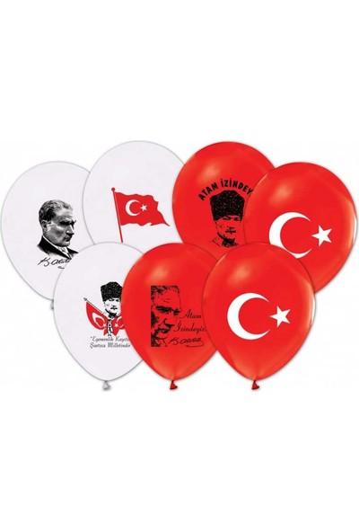 Kidspartim Atatürk-Bayrak Baskili Balon