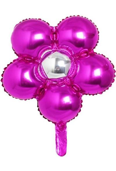 Kidspartim Çiçek Modelli Folyo Balon Mor 18 inç 40 cm
