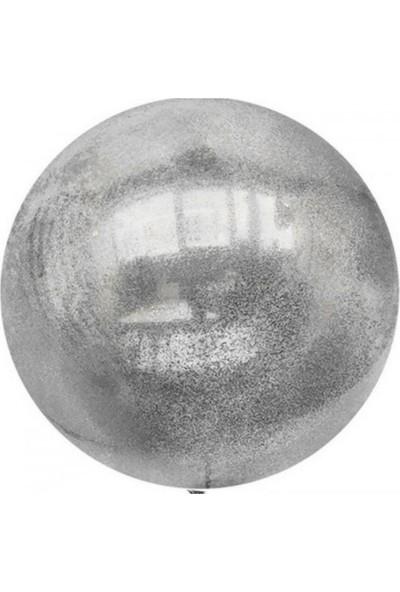 Kidspartim Gümüş Simli Şeffaf Balon 18 inç