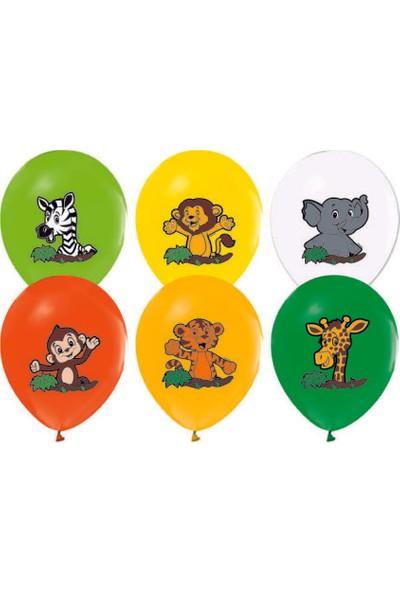 Kidspartim Hayvanlar Temali 12 inç Karişik Renk Lateks Balon