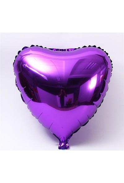 Kidspartim Kalp Mor 18 inç Folyo Balon