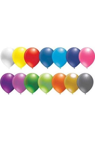 Kidspartim Karişik Renkli Düz Balon 6 inç