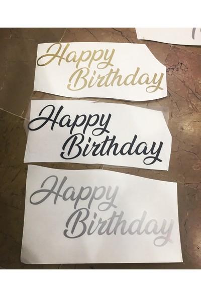 Kidspartim Şeffaf Bobo Balon Yazisi Happy Birthday