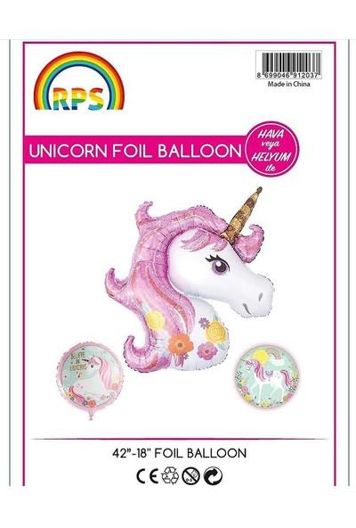 Kidspartim Unicorn 3'lü Folyo Balon