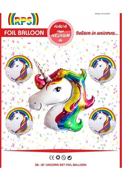 Kidspartim Unicorn 5'li Folyo Balon