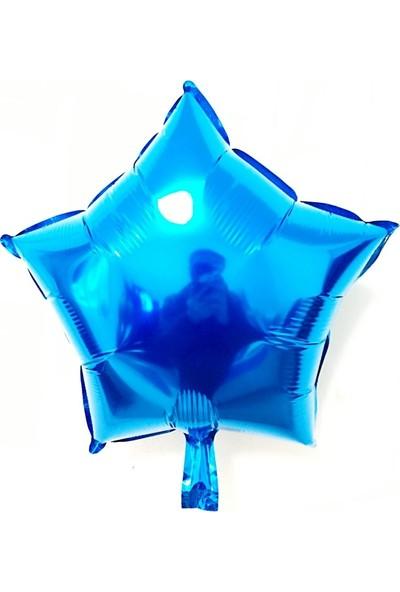 Kidspartim Yildiz Saks Mavi 22 inç Folyo Balon
