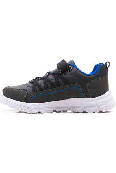 Slazenger Franklın Spor Çocuk Ayakkabı Siyah / Saks Mavi