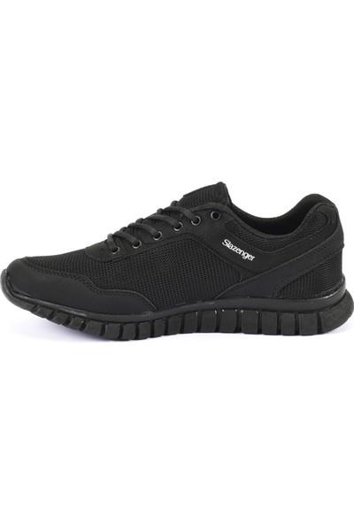 Slazenger Aeron I Koşu Yürüyüş Erkek Ayakkabı Siyah / Beyaz