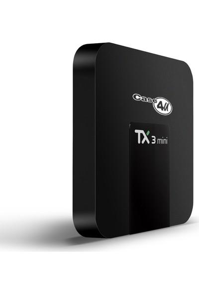 Case 4U TX3 Mini 4K TV Box - Android 7.1- 2 GB Ram / 16 GB Hafıza