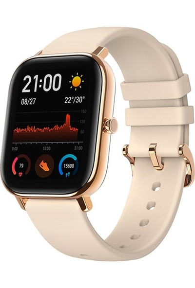 Amazfit GTS Akıllı Saat - Amoled Ekran - 5 ATM Suya Dayanıklı - Desert Gold - Distribütör Garantili
