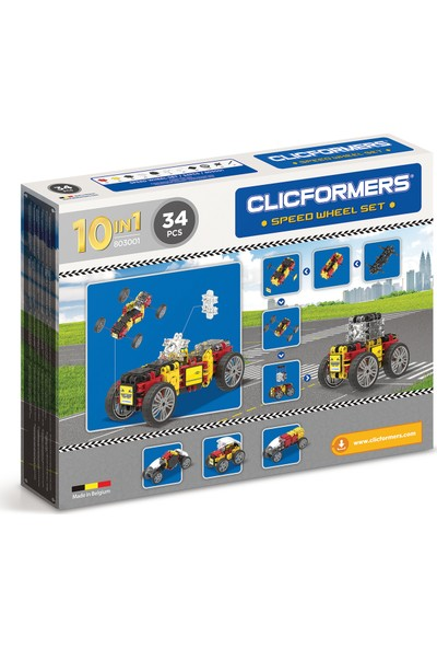 Clicformers Speed Wheel Set - 34 Parça