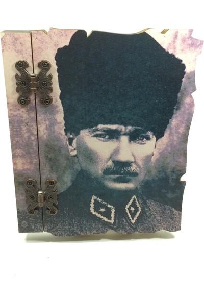 Özarslan Dizayn Atatürk Ahşap Hatıra-Anı Defteri