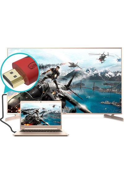 TriLine HDMI Kablo Sargılı Çift Filtreli 1.4V Altın Uç - 10 mt