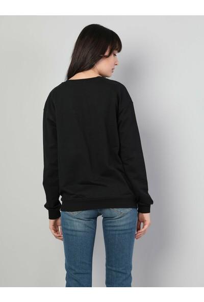 Colins Regular Fit Kadın Siyah Sweatshirt