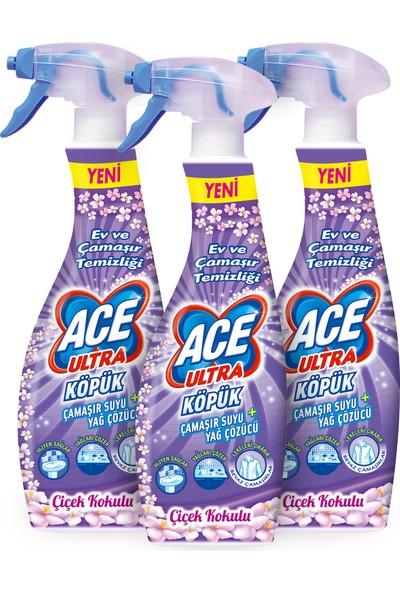 Ace Ultra Köpük Çiçek Kokulu 700 ml x3