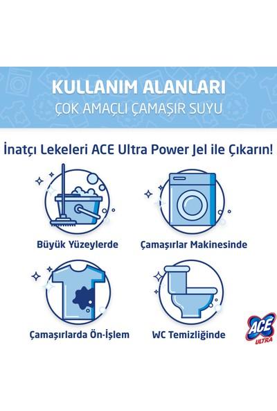 Ace Ultra Power Jel Kıvamlı Çamaşır Suyu Limon Bahçesi 810g x4