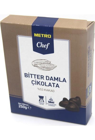 Metro Chef Bitter Damla Çikolata (250 gr)