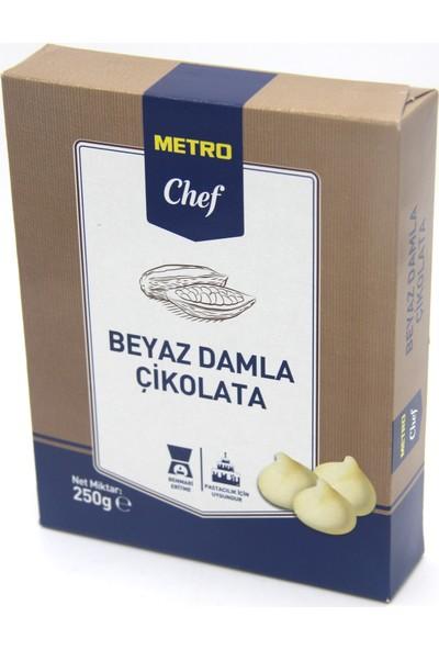 Metro Chef Beyaz Damla Çikolata (250 gr)