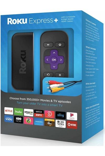 Roku Express+ HD Streaming Media Player HDMI Composite Kablo