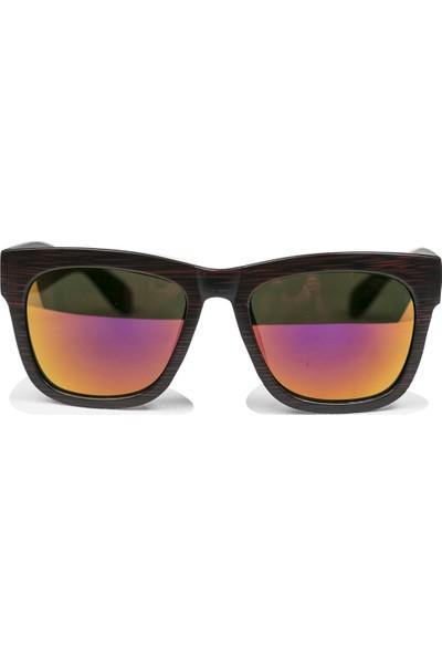 FashionMoon GGZFMW0007 Ahşap Görünümlü Model Kırmızı Çerçeve Erkek Güneş Gözlüğü