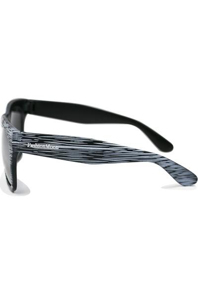 FashionMoon GGZFMW0006 Ahşap Görünümlü Model Beyaz Çerçeve Erkek Güneş Gözlüğü