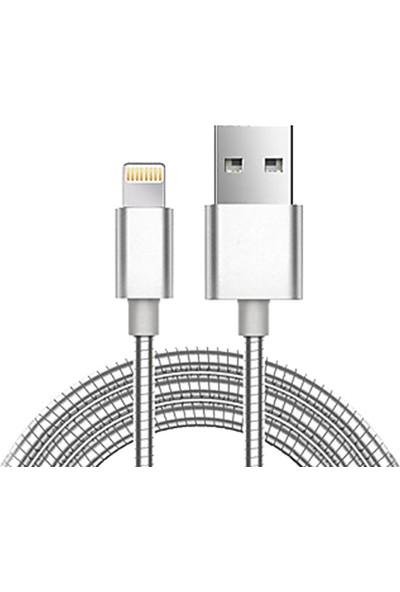 Sincap Metal Yaylı Lightning iPhone Ultra Sağlam Şarj Data Kablosu