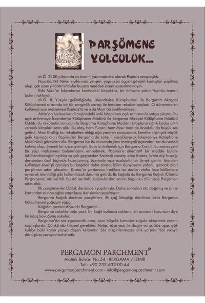 Pergamon Parchment Parşömen Kağıdı Üzerine Çizim Galata Kulesi