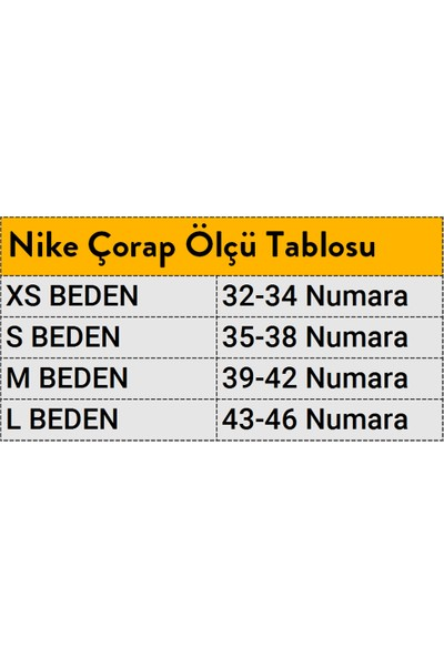 Nike SX7676-100 Everyday Cush No-Show 3lü Çorap Seti