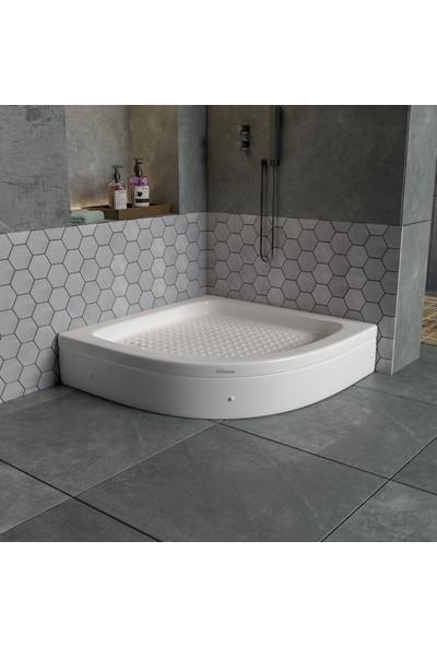 Dbbanyo Oval Duş Teknesi Panelli 90*90*20 cm