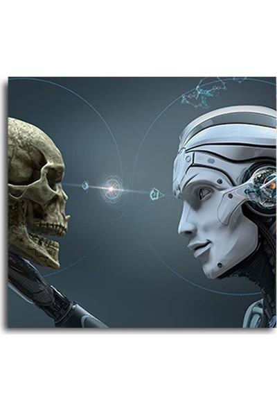 2645 İstanbul Robot Ve İnsan Kafatası EkoTablo