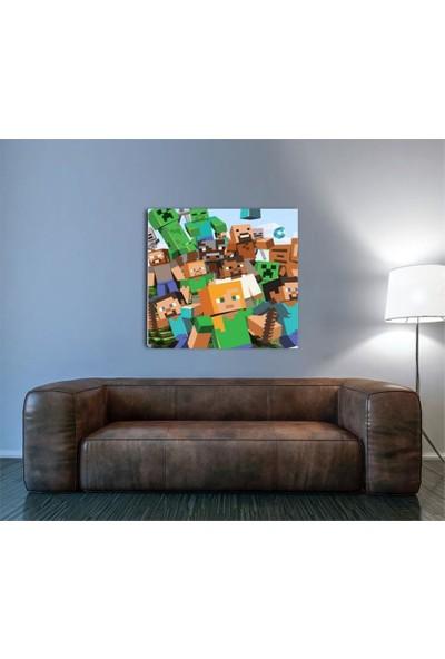 2645 İstanbul Minecraft-Steve ve Creeper EkoTablo