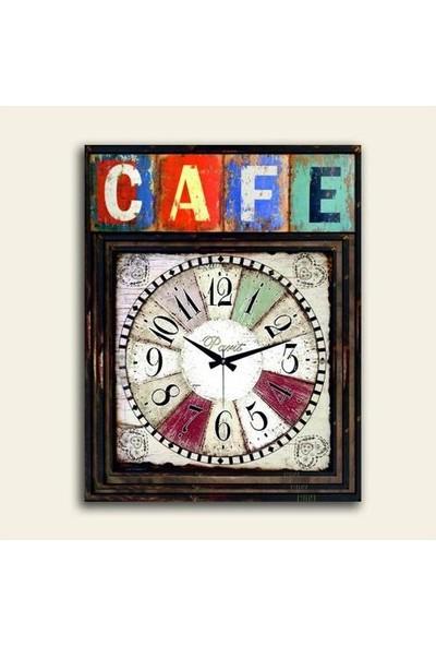 2645 İstanbul Cafe Paris Saatli Poster