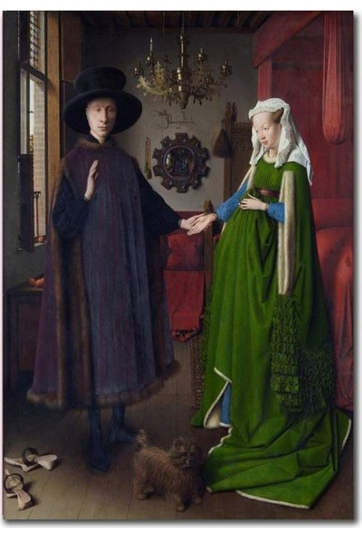 2645 İstanbul Jan van Eyck Portrait of Giovanni Arnolfini and his Wife Poster