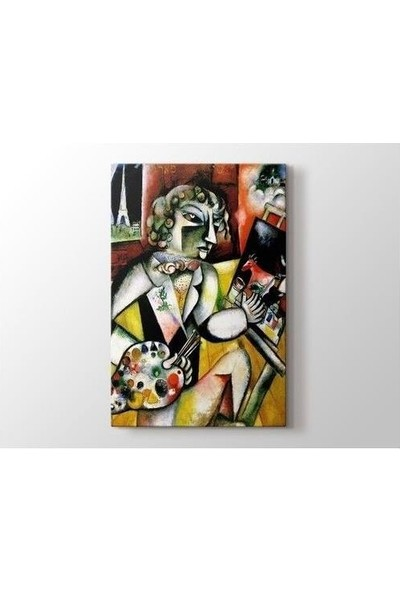 2645 İstanbul Marc Chagall Self-Portrait with Seven Fingers Poster
