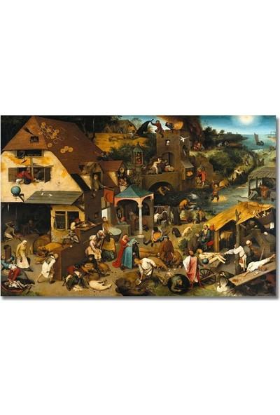 2645 İstanbul Pieter Bruegel Dutch Proverbs Poster