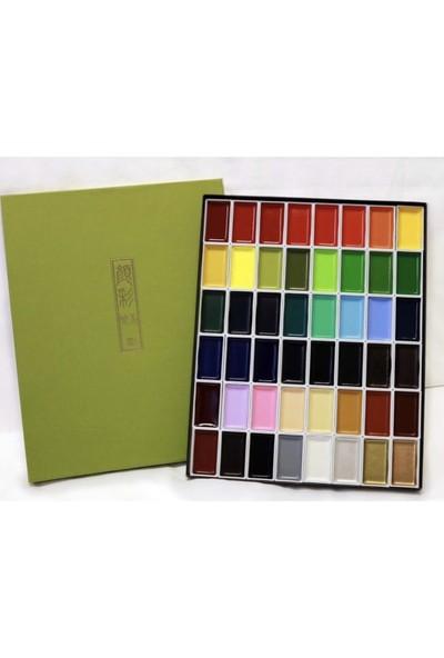 Zig Kuretake Gansai Tambi Profesyonel Japon Tablet Sulu Boya 48 Renk