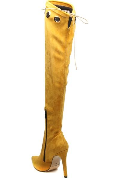 Rovigo Plus Kadın Hardal Çizme