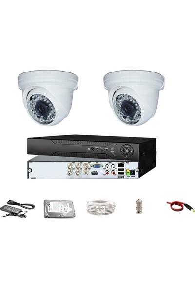 Proahd 3 MP Lens Dome Paket Güvenlik Kamerası Seti 2'li