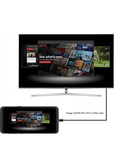 Paugge CHD20B-PRO USB-C / Type-C HDMI Televizyon Görüntü Aktarım Kablosu