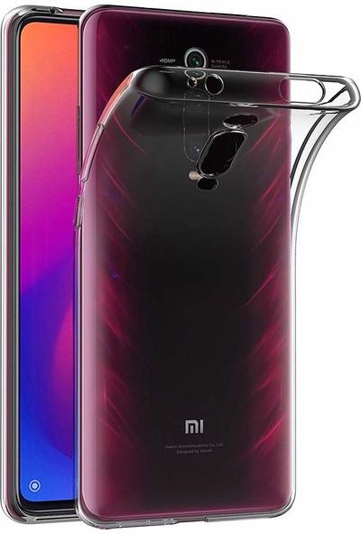 Quse Xiaomi Mi 9T Premium Şeffaf Silikon Kılıf + 5D Tam Kaplayan Ekran Koruyucu