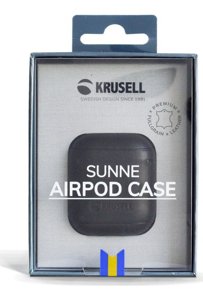 Krusell Deri Apple Airpods Kılıfı Siyah