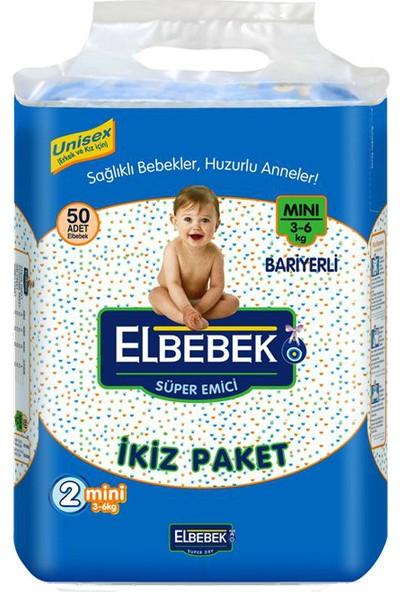 Elbebek Mini Bariyerli 3-6 Kg. 2 Numara Bebek Bezi