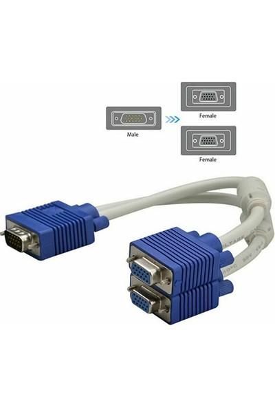 Platoon 2'li VGA Çoklayıcı Y Splitter Kablo