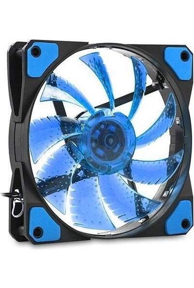 LED Işıklı Mavi Fan 12CM