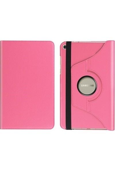 "CEPMARKETIM Samsung Galaxy Tab A 8.0"" T290/295/297 360 Derece Döner Tablet Kılıf - Pembe"
