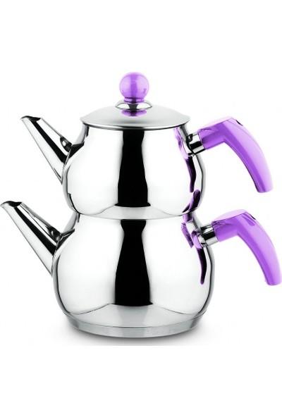 Remetta Lumino Aile Küre Çelik Çaydanlık